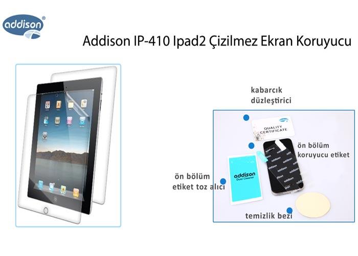 Addison IP-410 Ipad2 Çizilmez Ekran Koruyucu