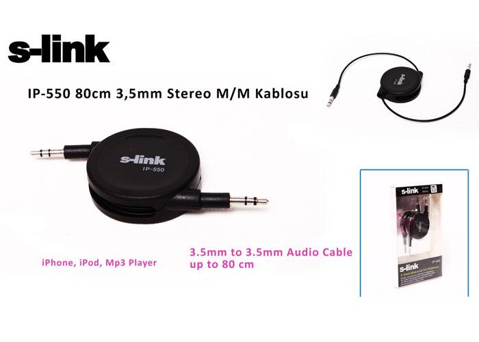S-link IP-550 80cm 3,5mm Stereo M/M Kablosu