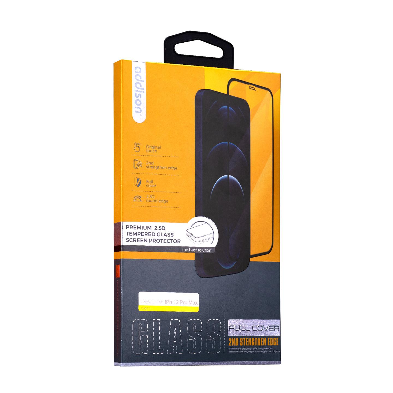 Addison IP-C12PMAX Full Cover 0.33m 2.5D iPhone 12 Pro Max Cam Ekran Koruyucu