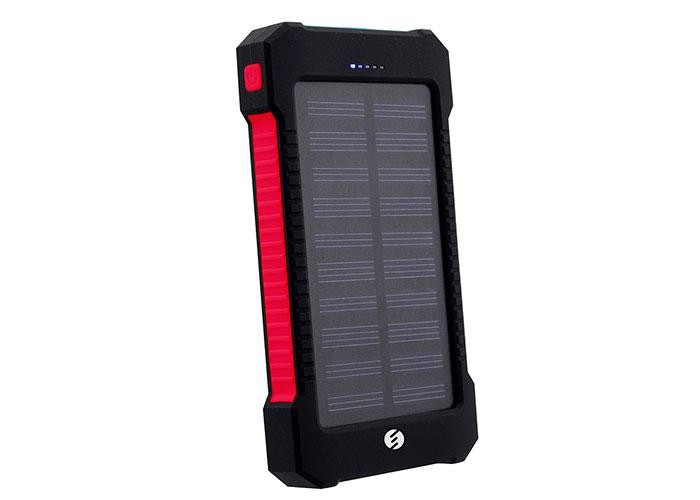 S-link IPS-808 8000mAh Powerbank Solar Siyah/Kırmızı Taşınabilir Pil Şarj Cihazı