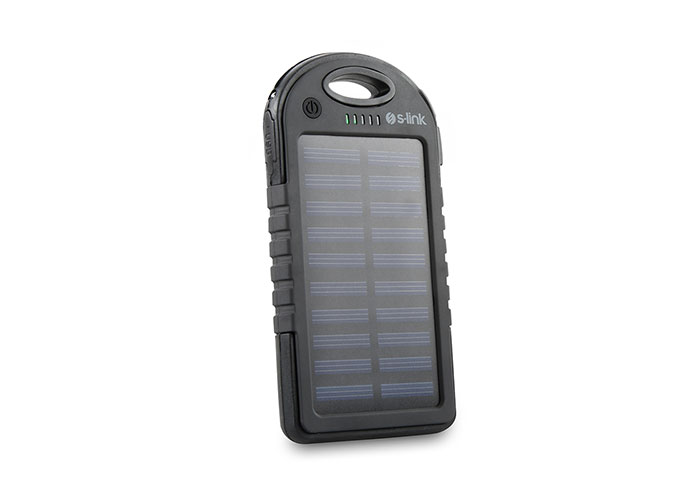 S-link IPS-905 4000mAh Solar Rechargeable Portable Battery Charger