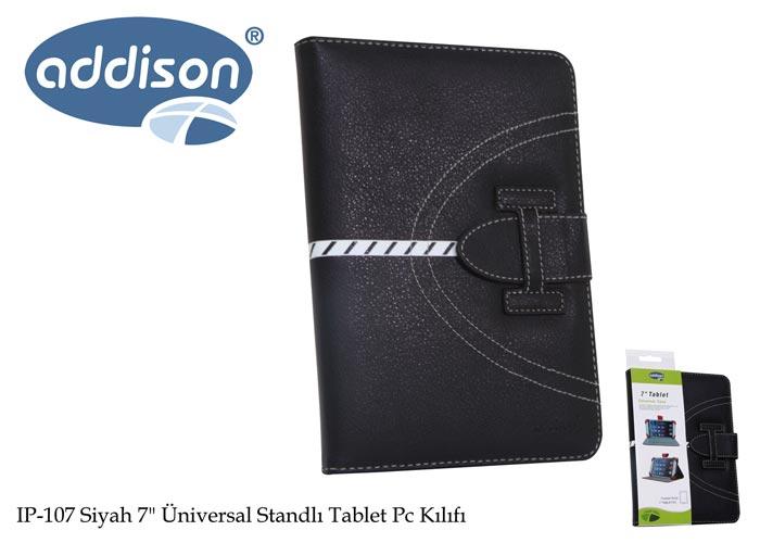 Addison IP-107 Siyah 7 Üniversal Standlı Tablet Pc Kılıfı