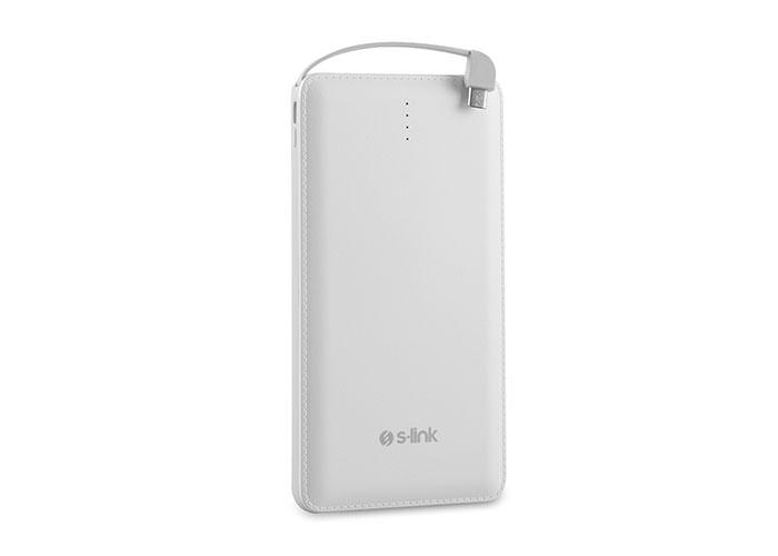 S-link IP-1011 10000mAh Powerbank Beyaz Taşınabilir Pil Şarj Cihazı