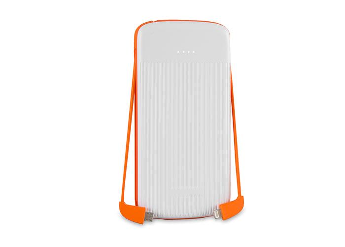 S-link IP-1012 10000mAh Powerbank White/Orange Portable Battery Charger