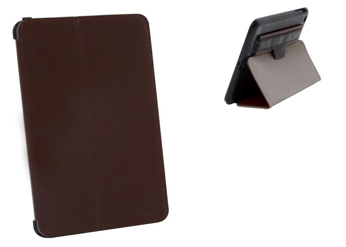 Addison IP-1072 iPad Mini / Mini2 Protective Case with Brown Stand