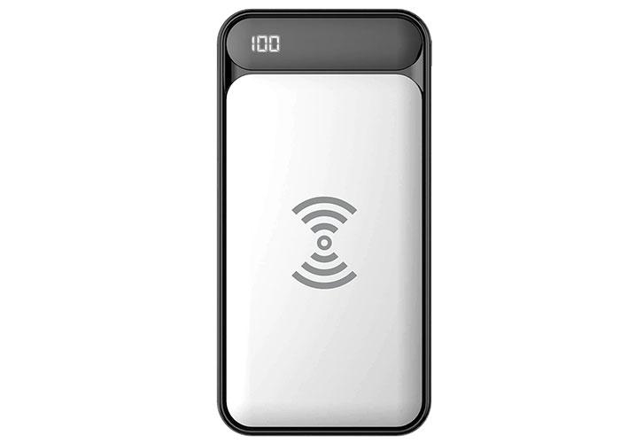 S-link IP-217W 10000mAh Powerbank 2 Usb Port Beyaz Kablosuz Taşınabilir Pil Şarj Cihazı