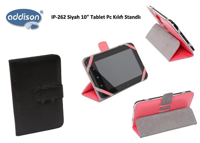 Addison IP-262 Siyah 10 Tablet Pc Kılıfı Standlı