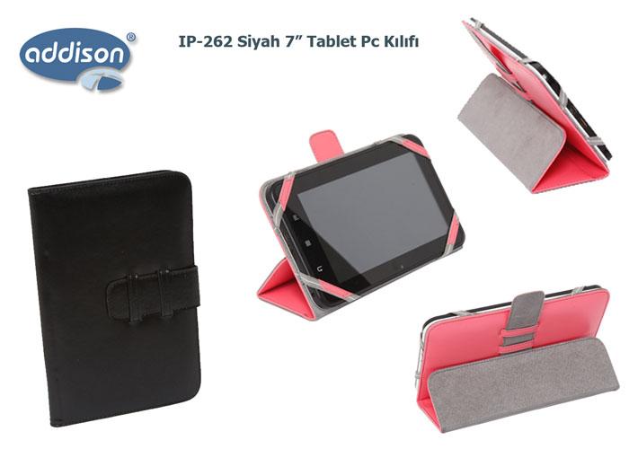 Addison IP-262 Siyah 7 Tablet Pc Kılıfı Standlı