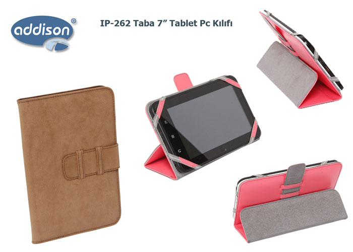 Addison IP-262 Taba 7 Tablet Pc Kılıfı Standlı