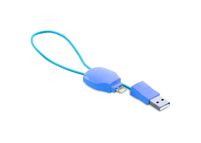 S-link IP-303 Mavi iPhone 5/6 to Usb Çevirici Kablo