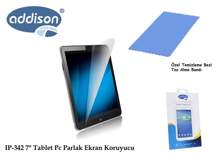 Addison IP-342 7 Samsung Galaxy Tab 3 Ultra Şeffaf Ekran Koruyucu