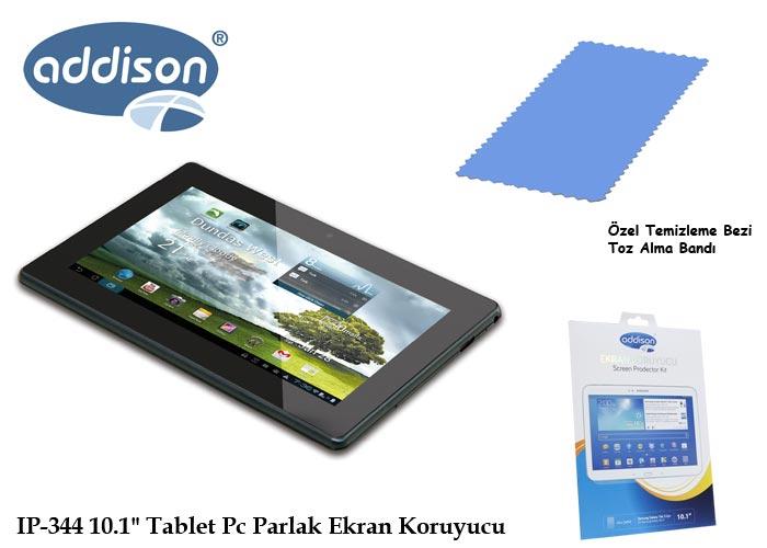 Addison IP-344 10.1 Samsung Galaxy Tab3 Ultra Şeffaf Ekran Koruyucu