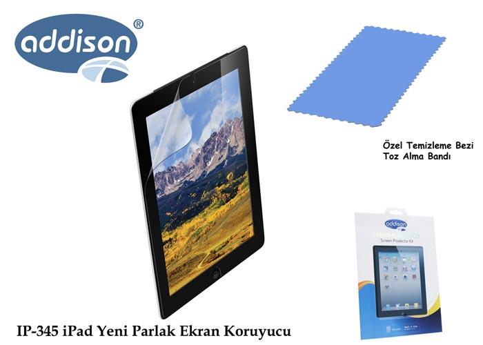 Addison IP-345 iPad 2/3/4 Ultra Şeffaf Ekran Koruyucu
