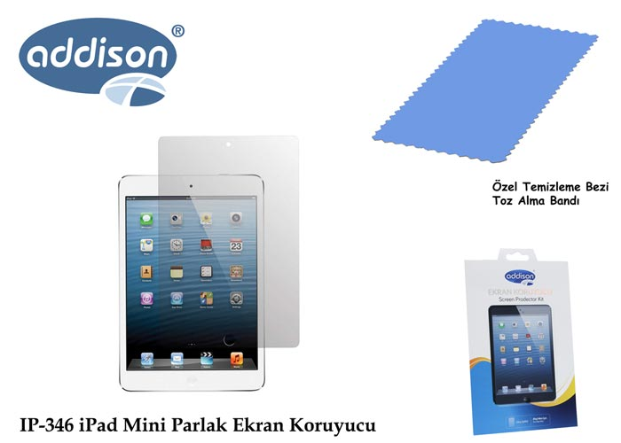 Addison IP-346 iPad Mini Ultra Şeffaf Ekran Koruyucu