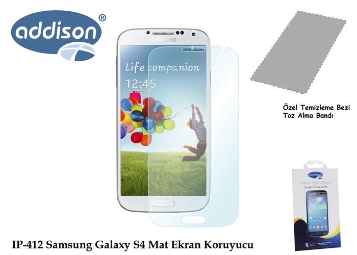 Addison IP-412 Samsung Galaxy S4 İz Bırakmaz Ekran Koruyucu