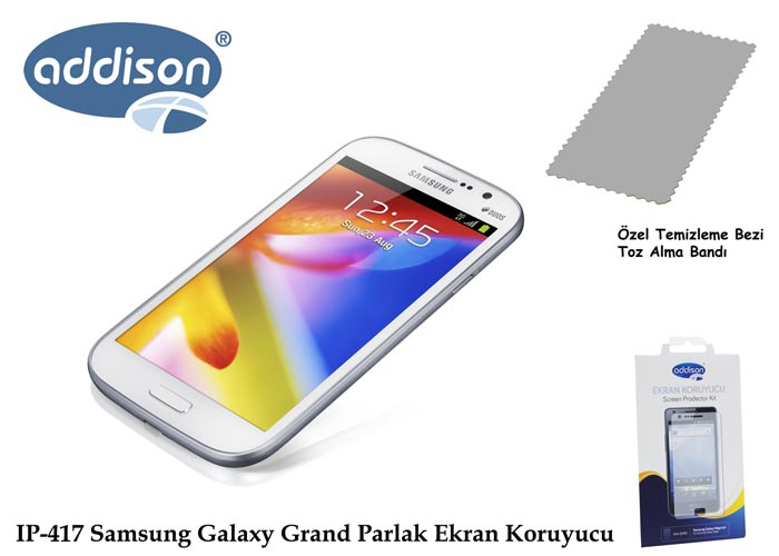 Addison IP-417 Samsung Galaxy Grand Ultra Şeffaf Ekran Koruyucu