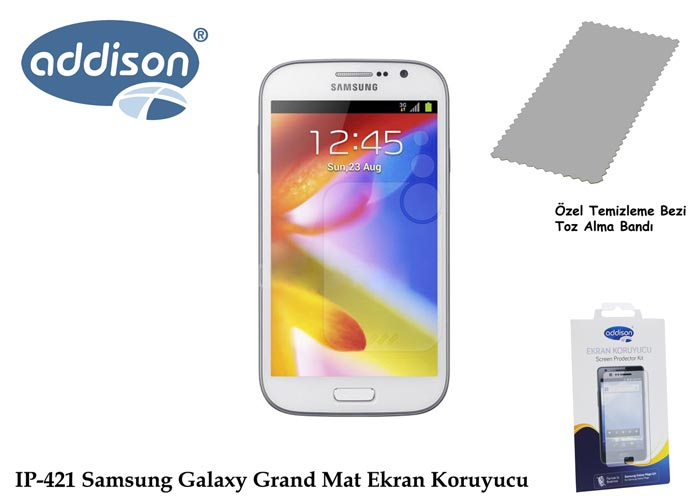 Addison IP-421 Samsung Galaxy Grand Mat Ekran Koruyucu