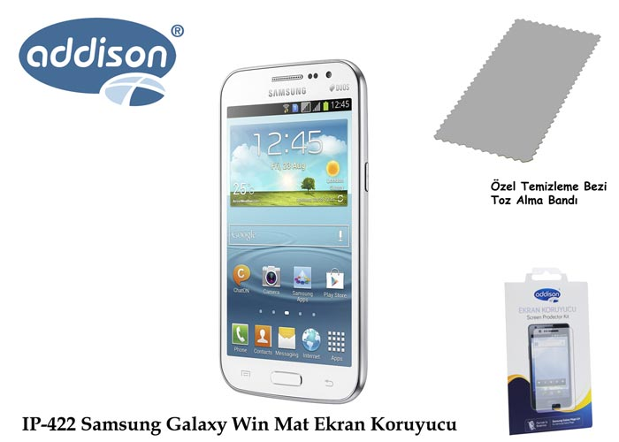 Addison IP-422 Samsung Galaxy Win İz Bırakmaz Ekran Koruyucu
