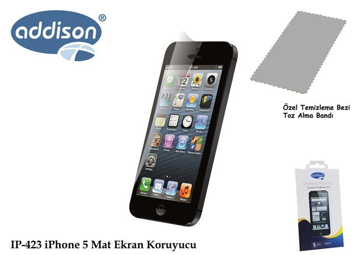 Addison IP-423 iPhone 5 İz Brakmaz Ekran Koruyucu