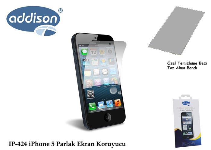 Addison IP-424 iPhone 5 Ultra Şeffaf Ekran Koruyucu
