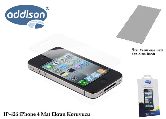 Addison IP-426 iPhone 4 İz Brakmaz Ekran Koruyucu