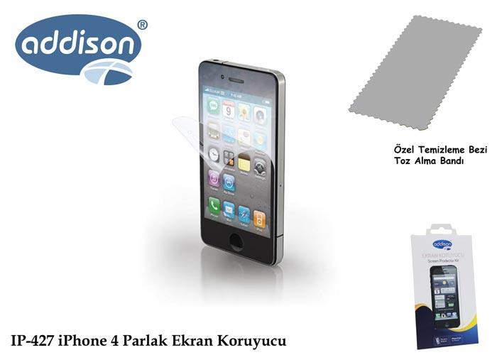 Addison IP-427 iPhone 4/4S Ultra Şeffaf Ekran Koruyucu