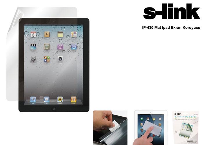 S-link IP-430 Ipad 2/3 Uyumlu Mat Ekran Koruyucu