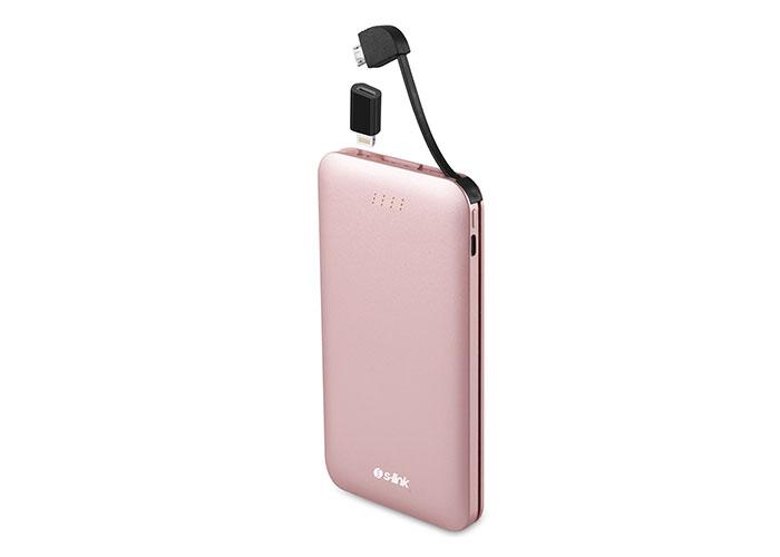 S-link IP-512 5000mAh Powerbank Rose Taşınabilir Pil Şarj Cihazı