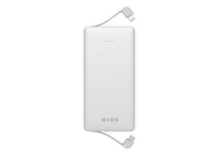 S-link IP-513 5000mAh Powerbank Beyaz Taşınabilir Pil Şarj Cihazı