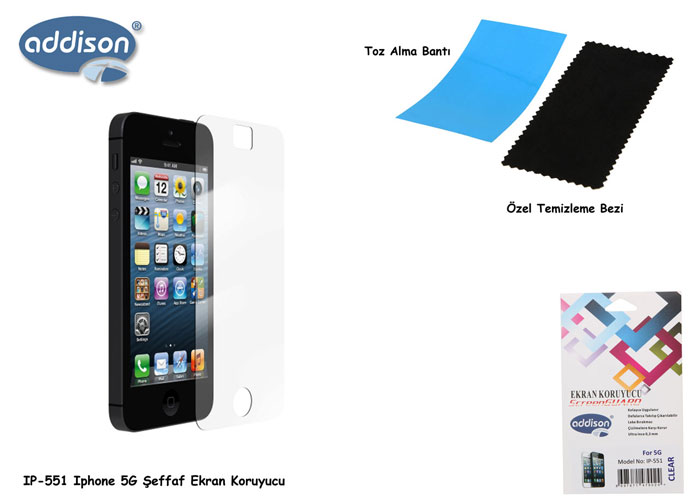 Addison IP-551 iPhone 5G Glossy Screen Protector