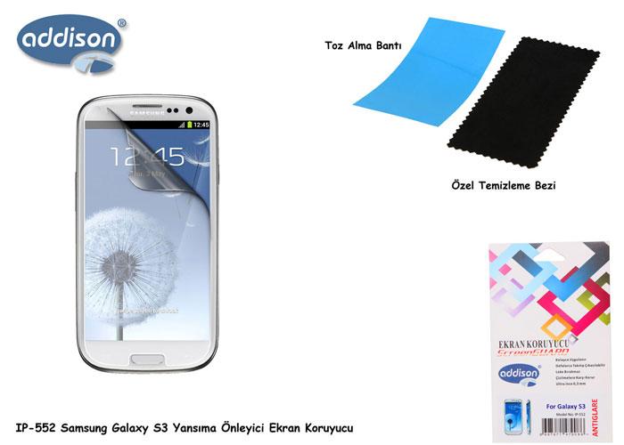 Addison IP-552 Mat Ekran Koruyucu Samsung Galaxy S3
