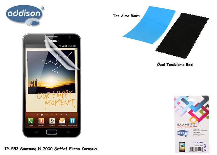 Addison IP-553 Samsung N7000 Parlak Ekran Koruyucu