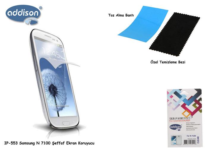 Addison IP-553 Samsung N7100 Parlak Ekran Koruyucu