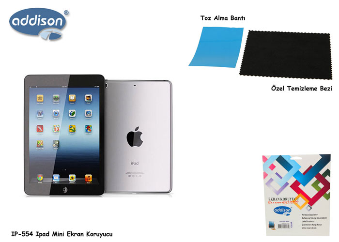 Addison IP-554 iPad Mini Glossy Screen Protector