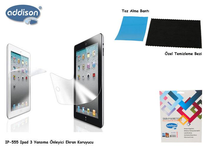 Addison IP-555 iPad 3 Mat Ekran Koruyucu