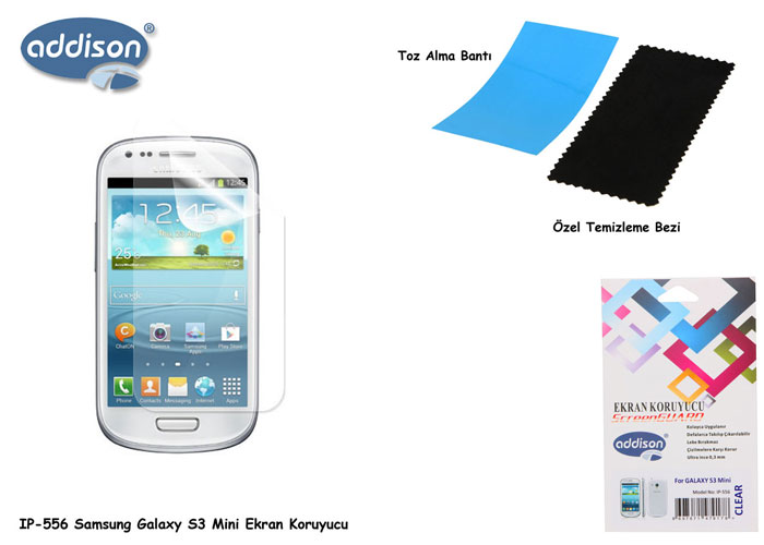 Addison IP-556 Ekran Koruyucu Samsung Galaxy S3 Mini