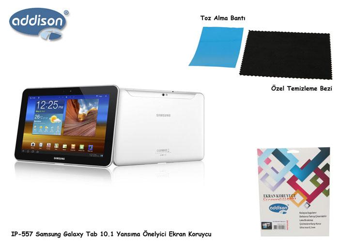 Addison IP-557 Samsung Galaxy Tab 10.1 Yansıma Önelyici Ekran Koruycu
