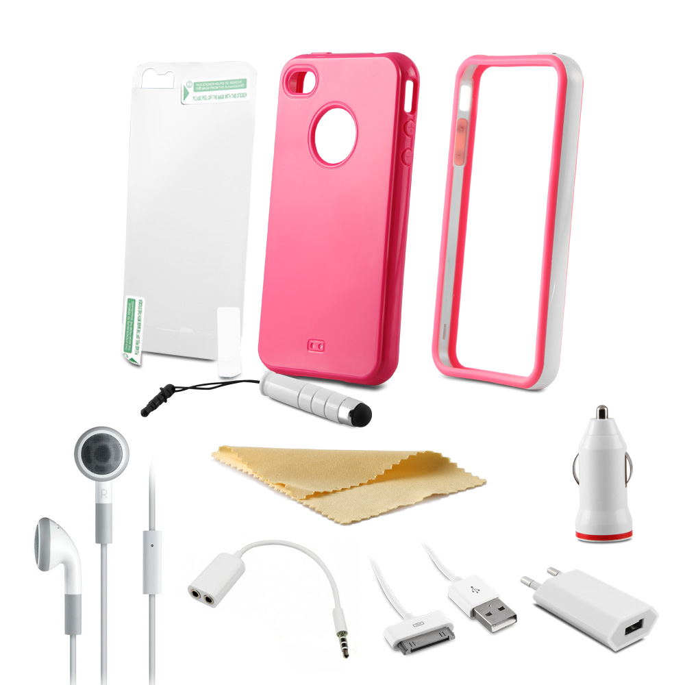 Addison IP-589 Pembe Süper 10lu Set Iphone 4G/4S Kılıfı