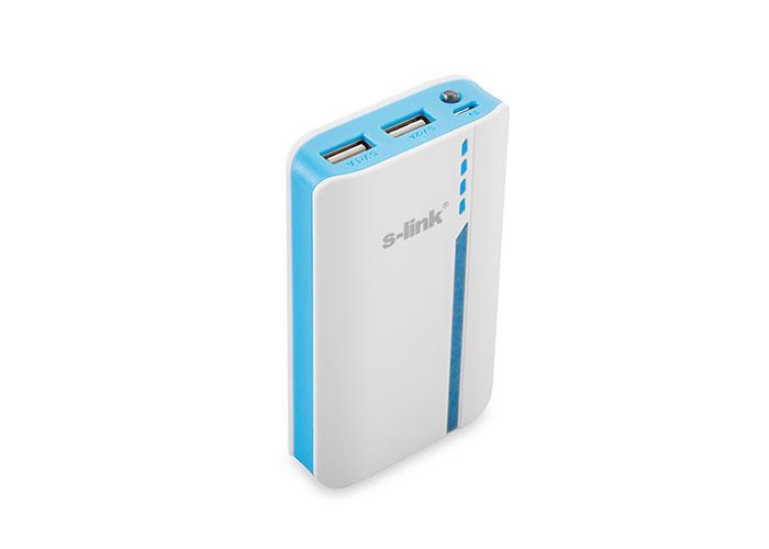 S-link IP-6044 6000mAh 1A/2.1A 2*Usb Beyaz/Mavi Taşınabilir Pil Şarj Cihazı