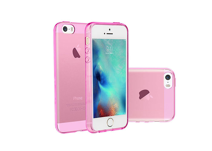 Addison IP-660S Pembe iPhone 5S Ultra İnce Koruma Kılıfı
