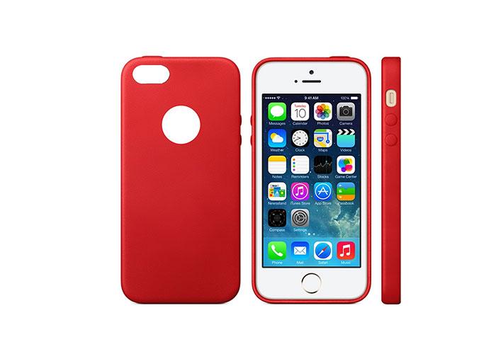 Addison IP-664S MatKırmızı iPhone 5SE Koruma Kılıfı