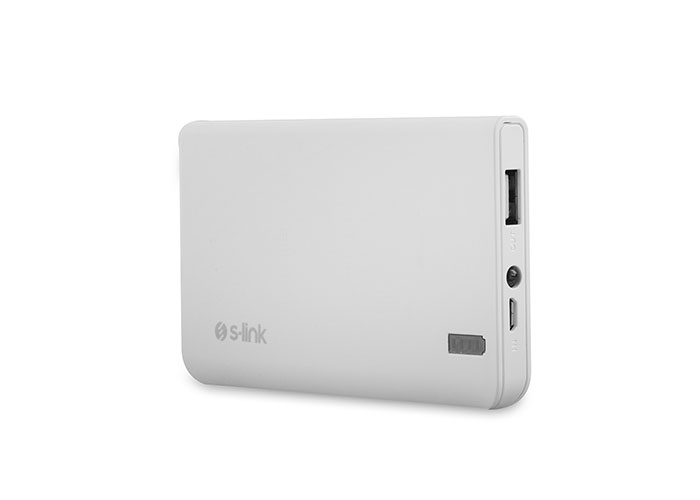 S-link IP-666 6000mAh 2000MA Powerbank White Portable Battery Charger