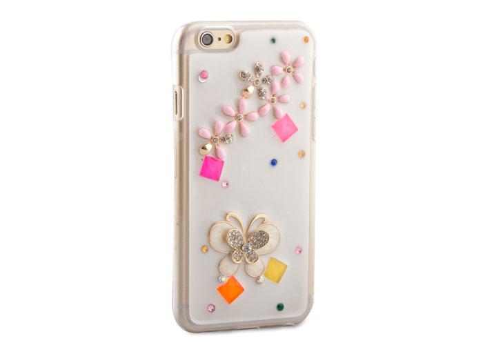 Addison IP-671 Desenli Taşlı iPhone 6 Plus 5.5 Koruma Kılıfı