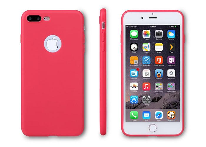 Addison IP-705 Kırmızı iPhone7 Plus Parlak-Mat Seri Koruma Kılıfı