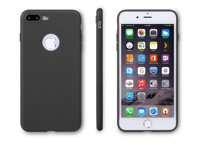 Addison IP-705 Siyah iPhone7 Plus Parlak-Mat Seri Koruma Kılıfı