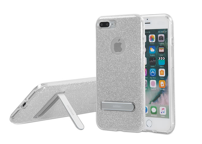 Addison IP-713P Shine Gray iPhone7 Plus Stand Protection Case