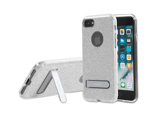 Addison IP-713 Shine Gri iPhone7 Standlı Koruma Kılıfı