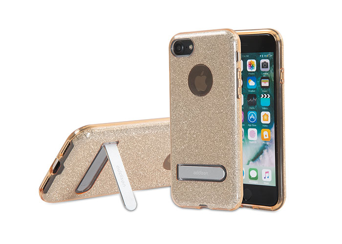 Addison IP-713 Shine Gold iPhone7 Standlı Koruma Kılıfı