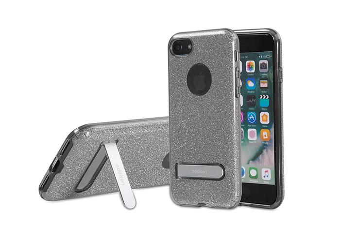 Addison IP-713 Shine Siyah iPhone7 Standlı Koruma Kılıfı