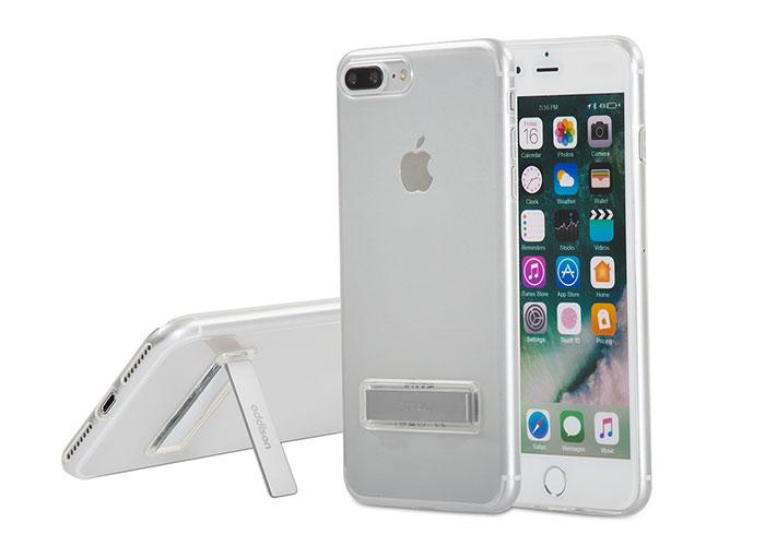 Addison IP-714P Kristal Seri Gri iPhone7 Plus Stnd Ultra İnce Koruma Kılıfı